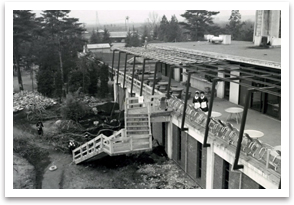 豊岡コースの旧クラブハウス増設工事