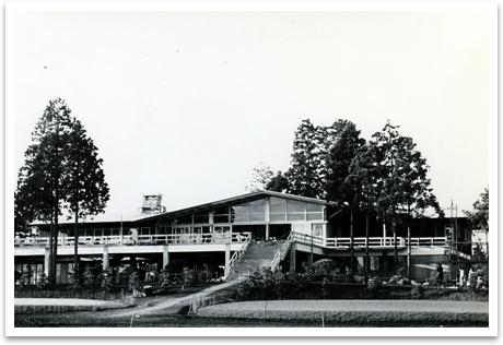 建築中の旧笹井クラブハウス